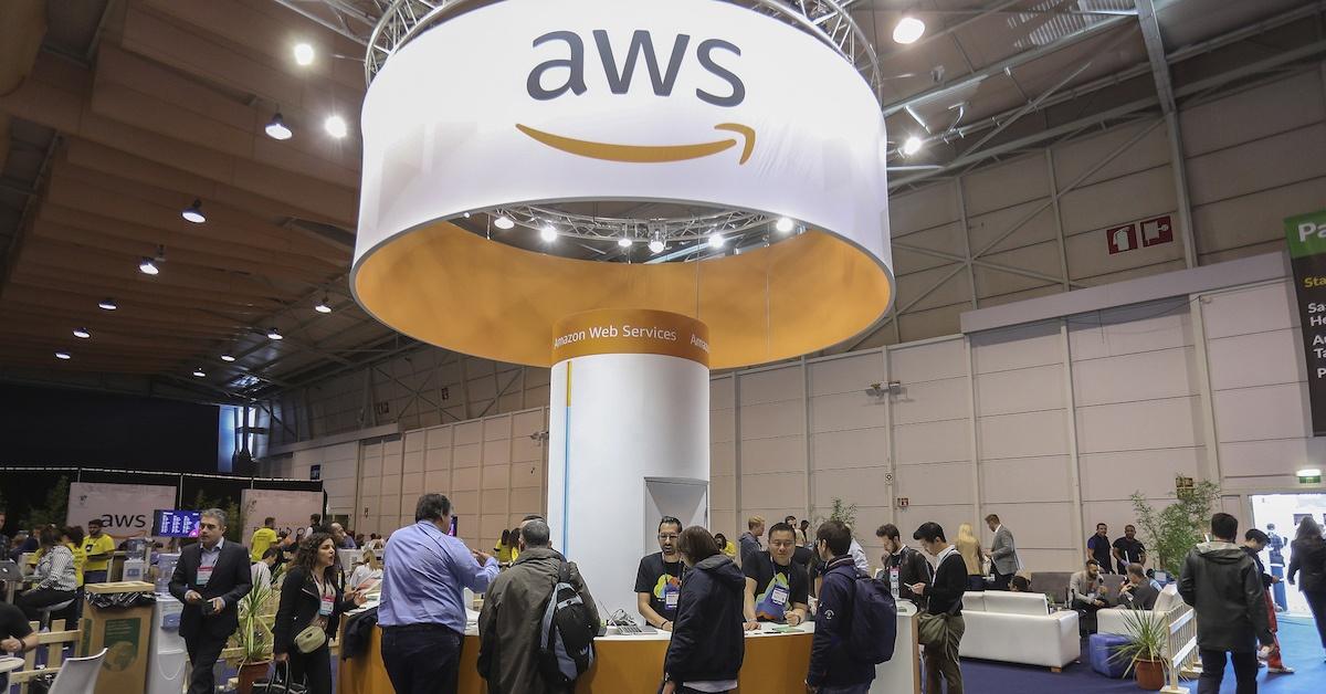 Stand da Amazon Web Services em evento