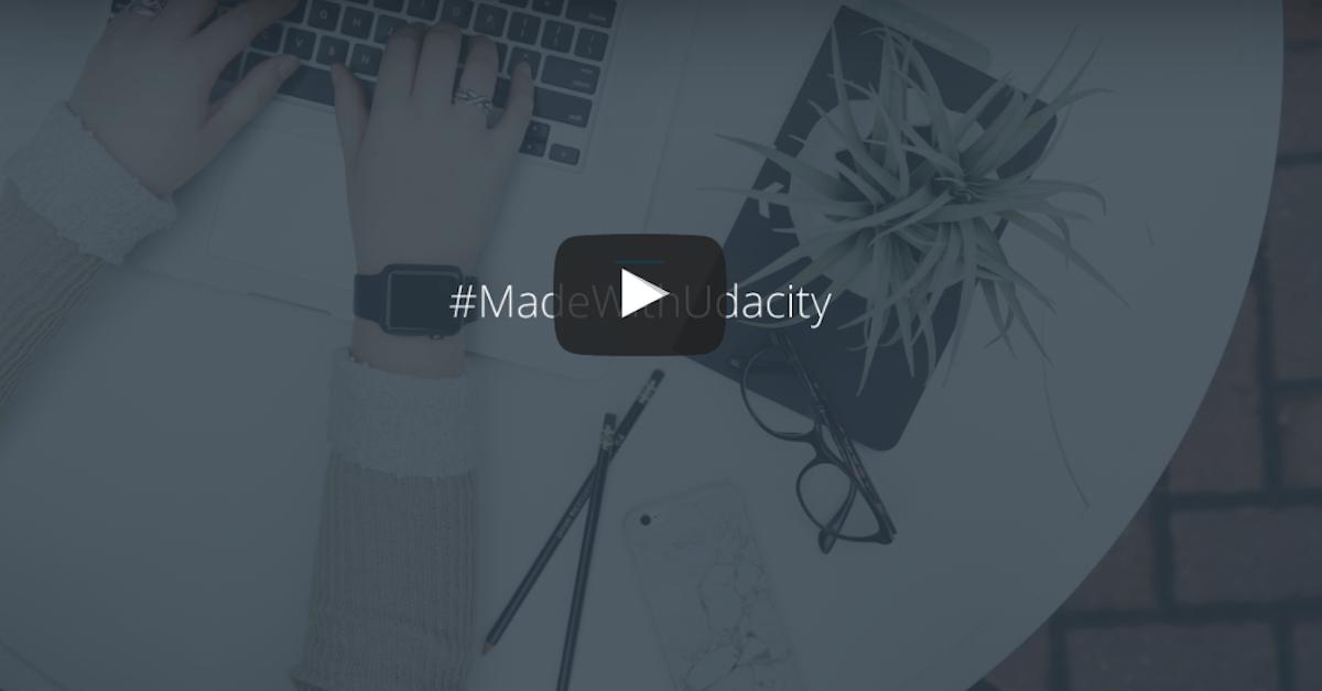 Print de webinar da Udacity