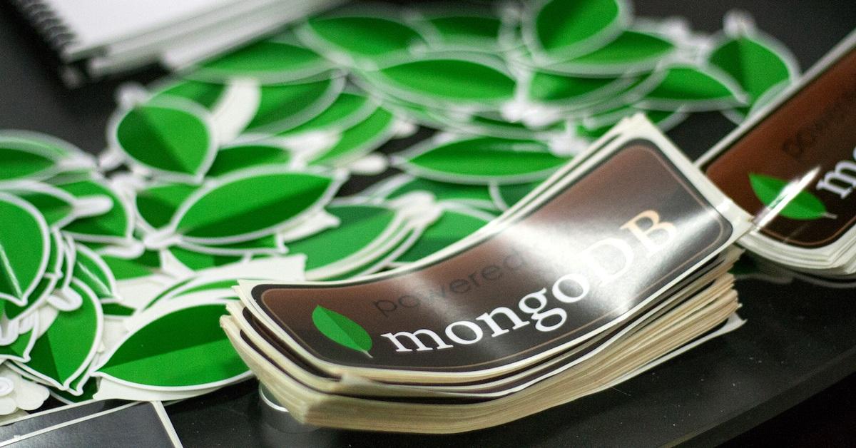 Adesivos com o logo do MongoDB
