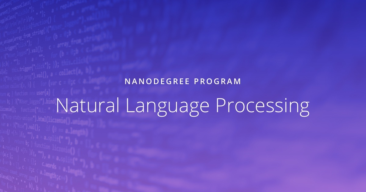 Natural Language Processing Udacity
